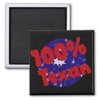 100 Percent Pure Texan on Stars 2 Inch Square Magnet