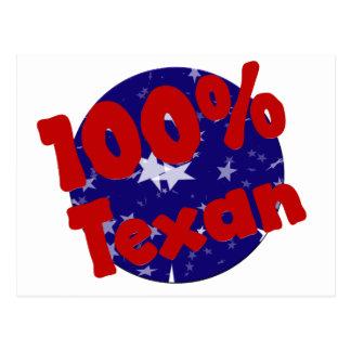 100 Percent Pure Texan on Stars Postcard