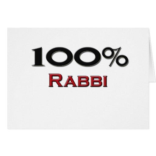 100 Percent Rabbi Greeting Card