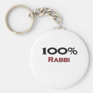 100 Percent Rabbi Basic Round Button Keychain
