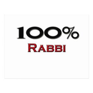 100 Percent Rabbi Postcard