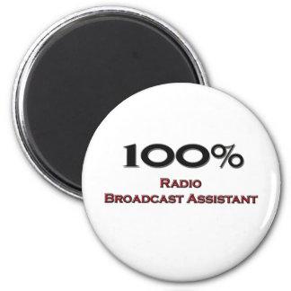 100 Percent Radio Broadcast Assistant 2 Inch Round Magnet