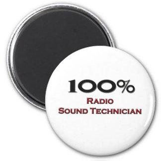 100 Percent Radio Sound Technician 2 Inch Round Magnet