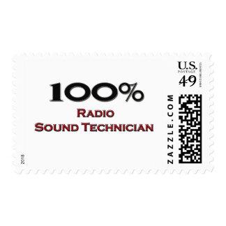 100 Percent Radio Sound Technician Postage Stamp