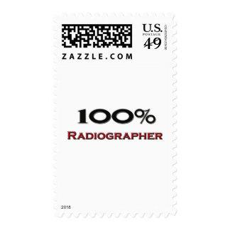 100 Percent Radiographer Postage Stamp