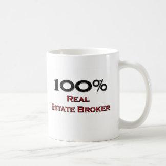 100 Percent Real Estate Broker Coffee Mug