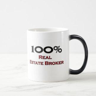 100 Percent Real Estate Broker Magic Mug