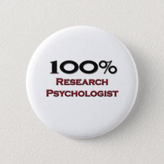 100 Percent Research Psychologist Pinback Button