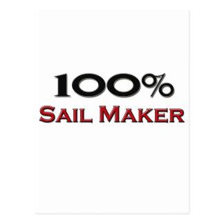 100 Percent Sail Maker Postcard