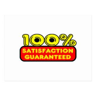 100 Percent Satisfaction Guaranteed Postcard