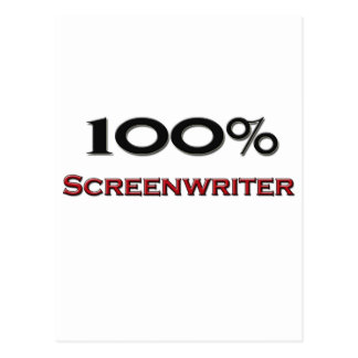 100 Percent Screenwriter Postcard