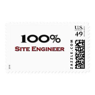 100 Percent Site Engineer Postage Stamp