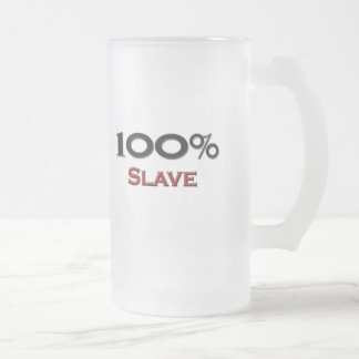 100 Percent Slave Driver Frosted Glass Beer Mug