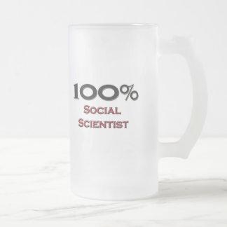 100 Percent Social Scientist 16 Oz Frosted Glass Beer Mug