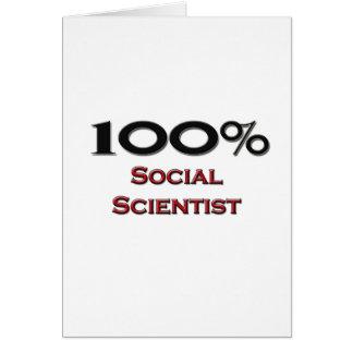 100 Percent Social Scientist Greeting Card