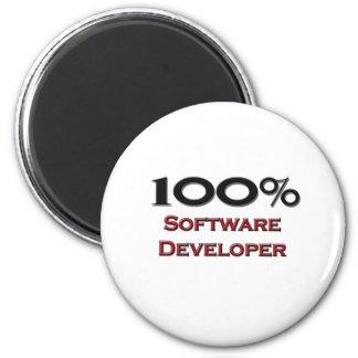100 Percent Software Developer 2 Inch Round Magnet