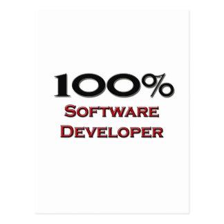 100 Percent Software Developer Post Cards