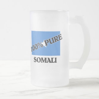 100 Percent SOMALI Frosted Glass Beer Mug
