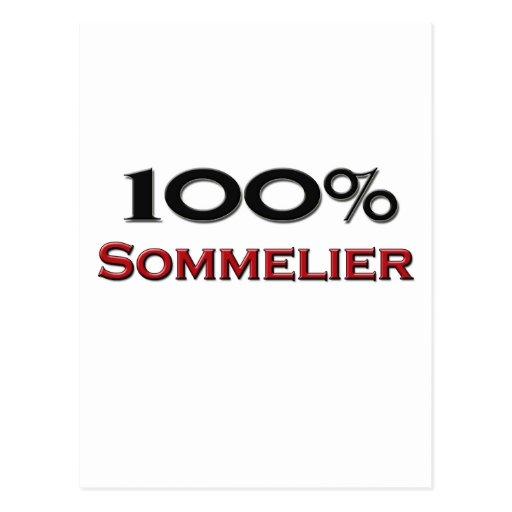 100 Percent Sommelier Postcard