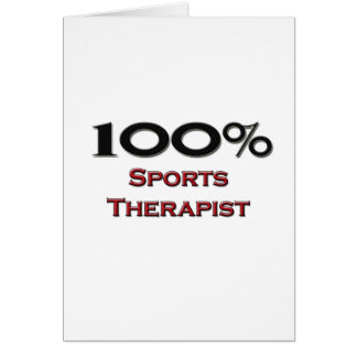 100 Percent Sports Therapist Card