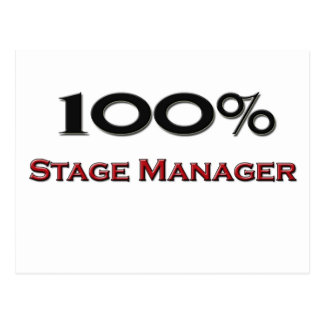 100 Percent Stage Manager Postcard