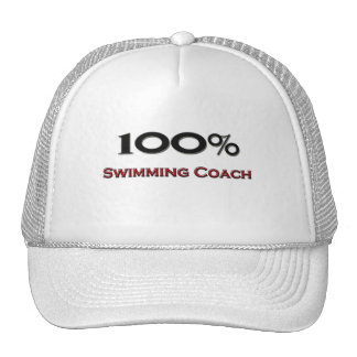 100 Percent Swimming Coach Mesh Hats