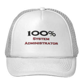 100 Percent System Administrator Trucker Hat