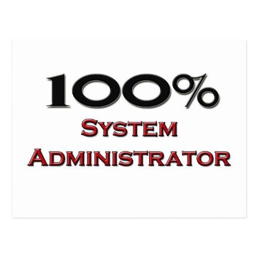 100 Percent System Administrator Postcard