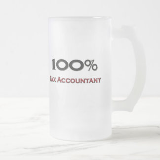 100 Percent Tax Accountant Frosted Glass Beer Mug