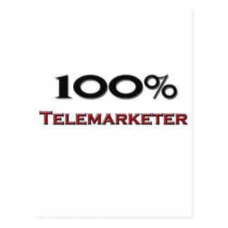 100 Percent Telemarketer Postcard