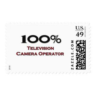 100 Percent Television Camera Operator Postage Stamp