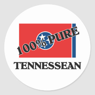 100 Percent Tennessean Classic Round Sticker