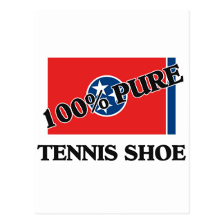 100 Percent Tennis Shoe Postcard