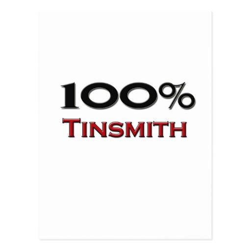 100 Percent Tinsmith Post Cards