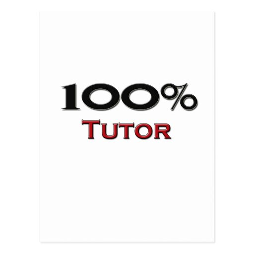100 Percent Tutor Postcard