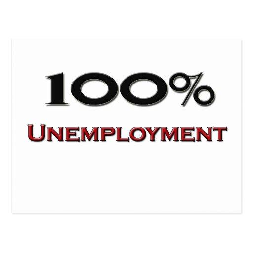 100 Percent Unemployment Postcard