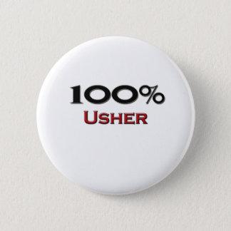 100 Percent Usher Pinback Button