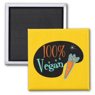 100 Percent Vegan 2 Inch Square Magnet