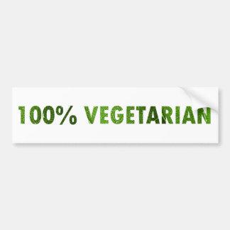 100 PERCENT VEGETARIAN BUMPER STICKERS