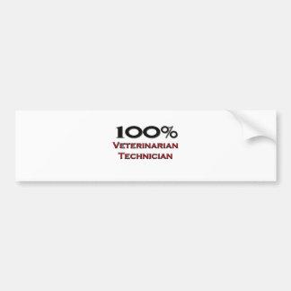 100 Percent Veterinarian Technician Bumper Stickers
