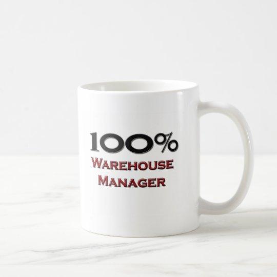 100 Percent Warehouse Manager Coffee Mug