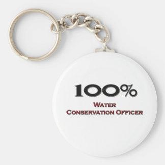 100 Percent Water Conservation Officer Basic Round Button Keychain
