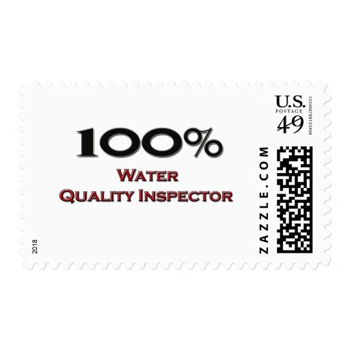 100 Percent Water Quality Inspector Postage