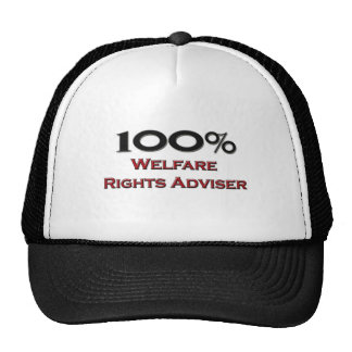 100 Percent Welfare Rights Adviser Mesh Hats