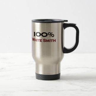 100 Percent White Smith 15 Oz Stainless Steel Travel Mug