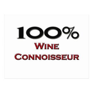 100 Percent Wine Connoisseur Postcards