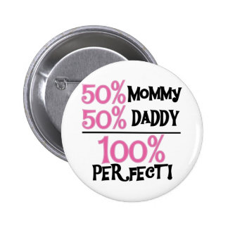 100% Perfect - Pink Tshirts and Gifts Pinback Button