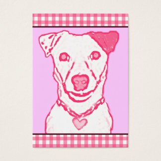 100 Pink Puppy Valentines Business Card