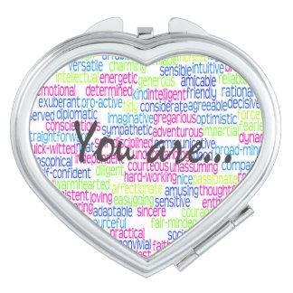 100 Positive Words that Describe You! Vanity Mirror