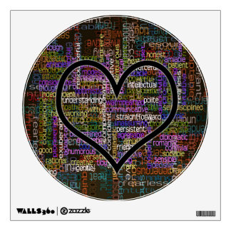 100 Positive Words Wall Decal